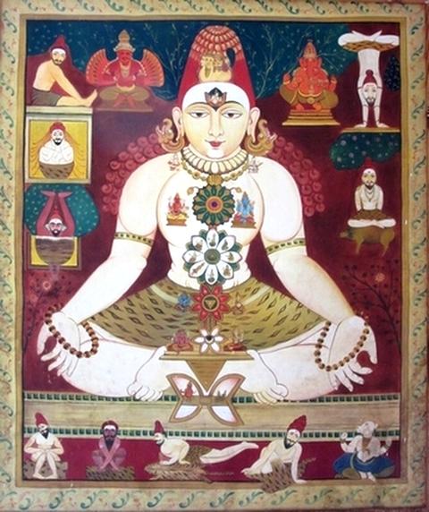 Peinture Hatha Yoga, Mysore, Karnataka, Inde - Yoga Sésâme